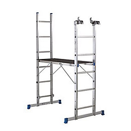 Mac Allister Trade Aluminium 3 In 1 Ladder