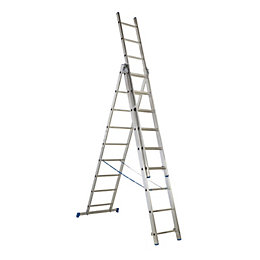 Mac Allister Trade Aluminium Combination Ladder, (H)5.4M