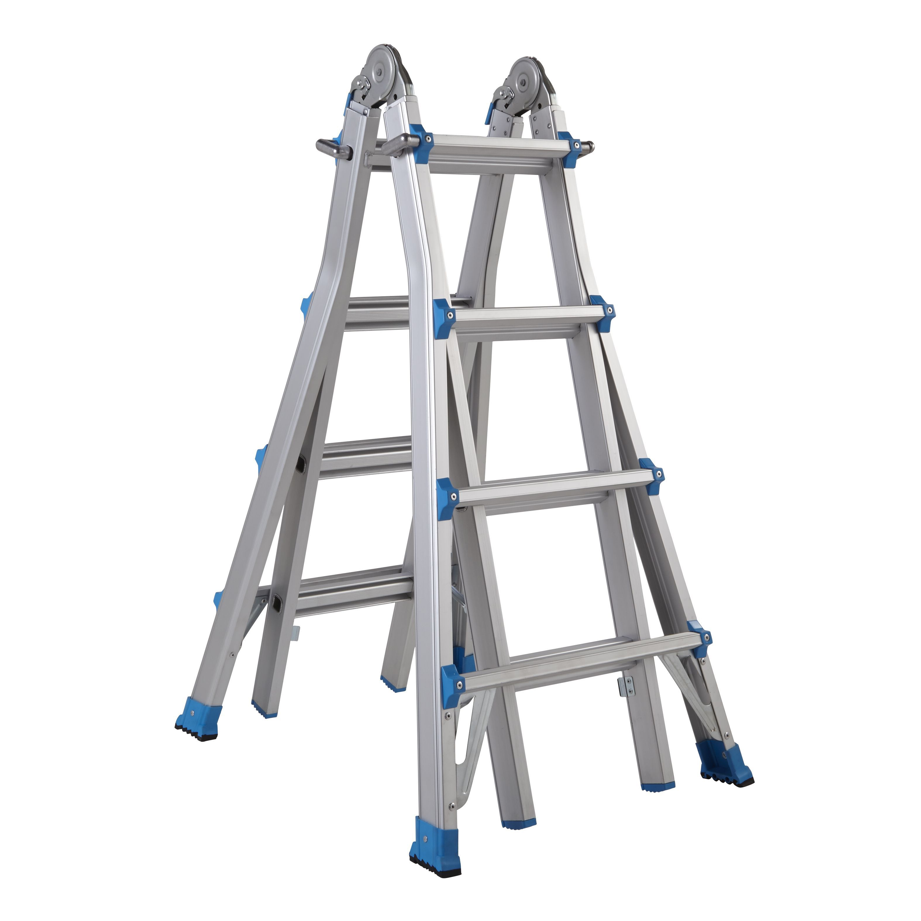 Mac Allister Extendable 16 Tread Multi Use Telescopic Ladder Departments