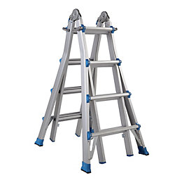 Mac Allister Extendable 16 Tread Multi-Use Telescopic Ladder