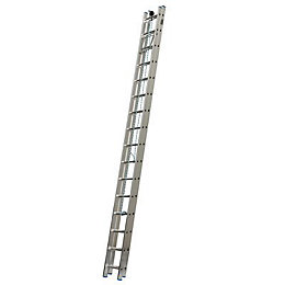 Mac Allister Aluminium Rope Assisted Extension Ladder, (H)6.8M