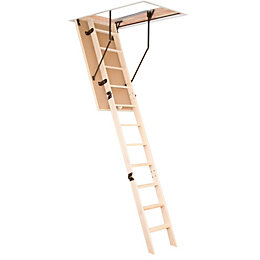 3 Section 12 Tread Folding Loft Ladder