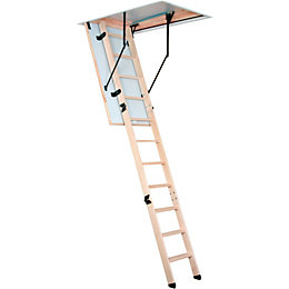 Mac Allister 3 Section Folding Loft Ladder, (H)280mm
