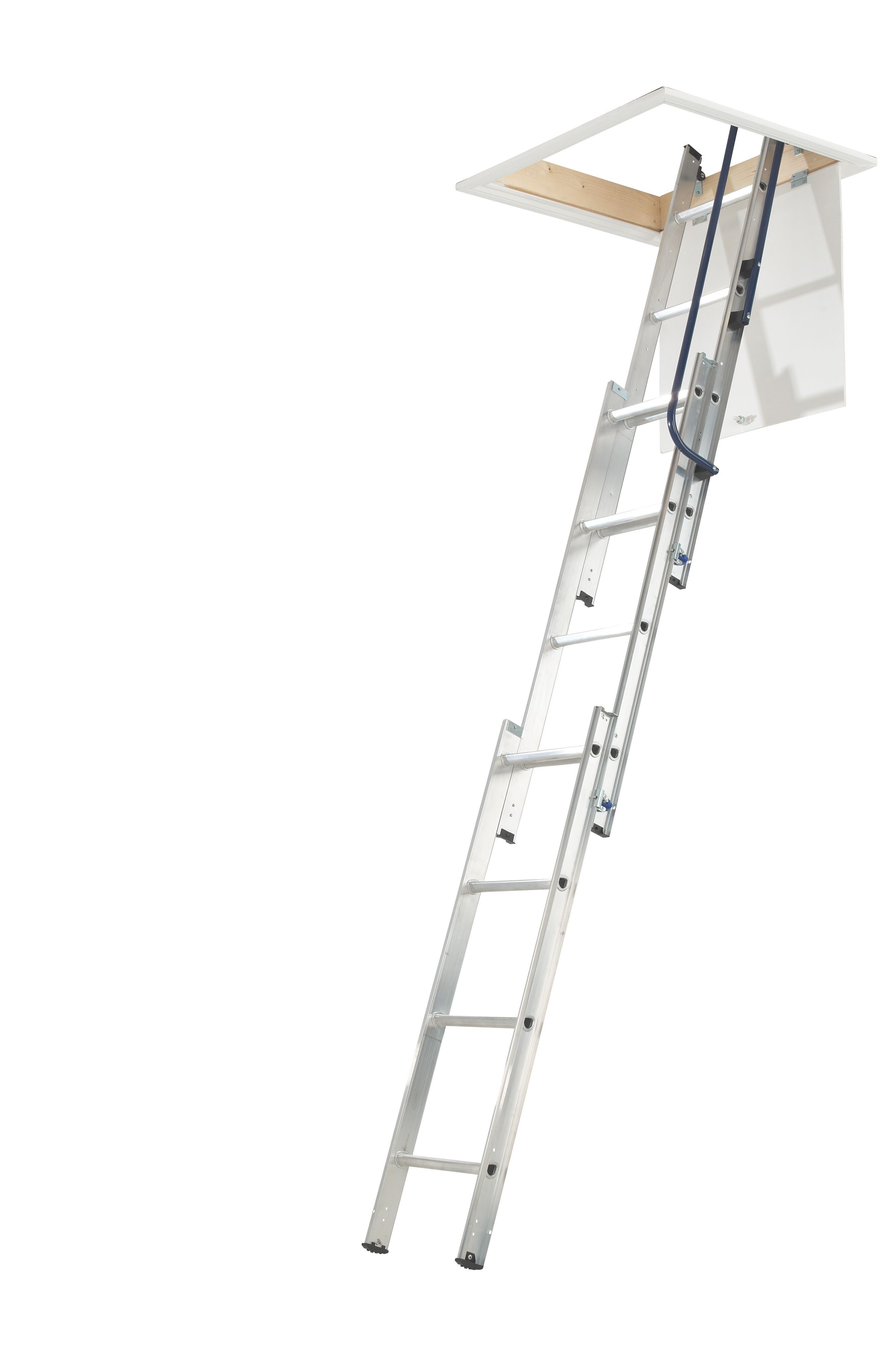 Mac Allister 3 Section 12 Tread Sliding Extension Loft Ladder