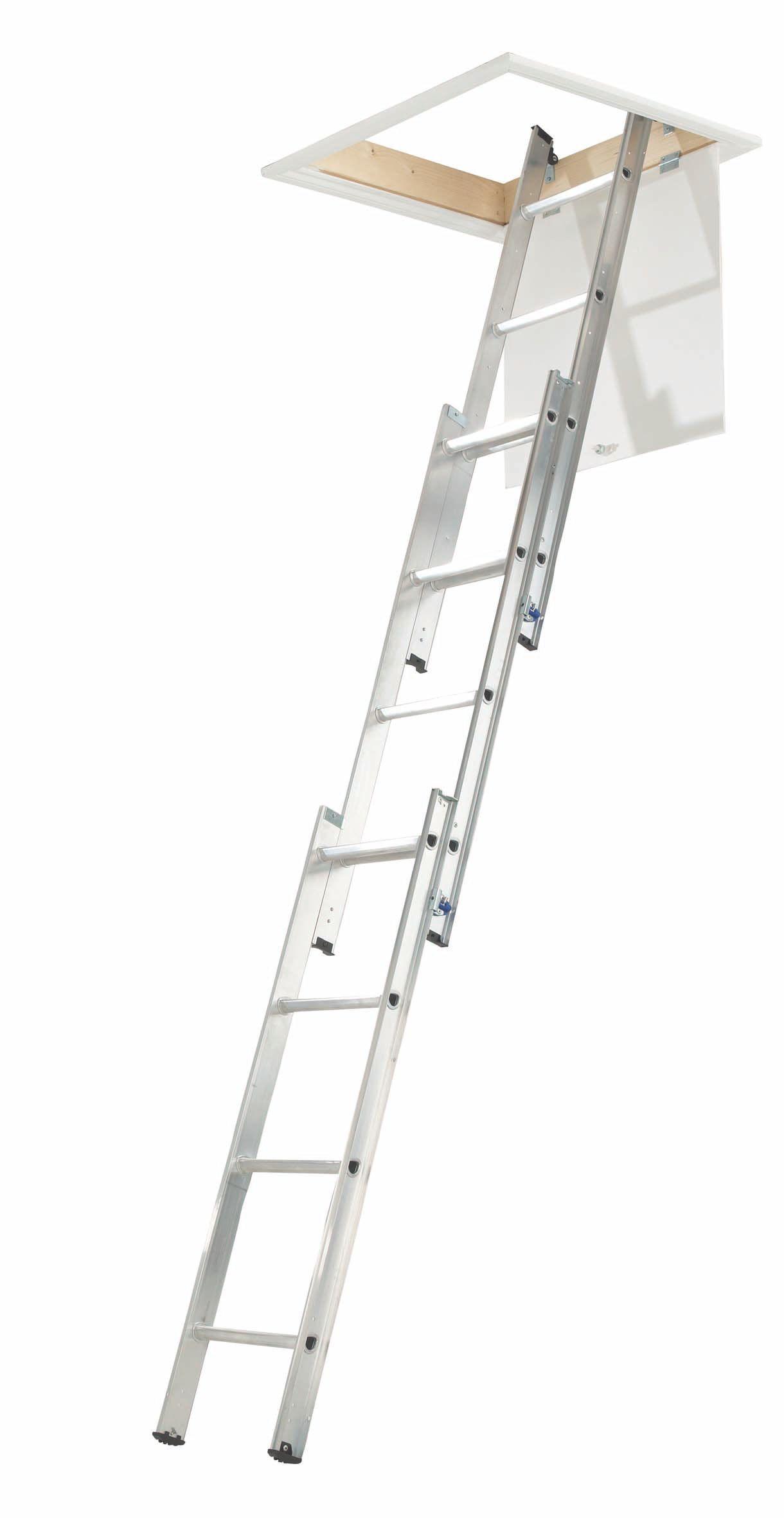 3 Section 12 Tread Sliding Triple Extension Loft Ladder