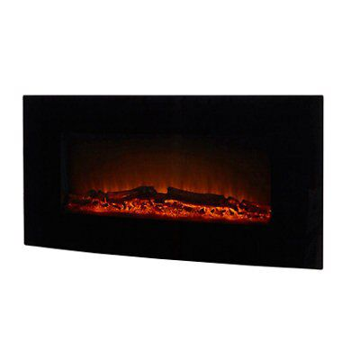 Blyss Sora Black Led Remote Control Electric Fire
