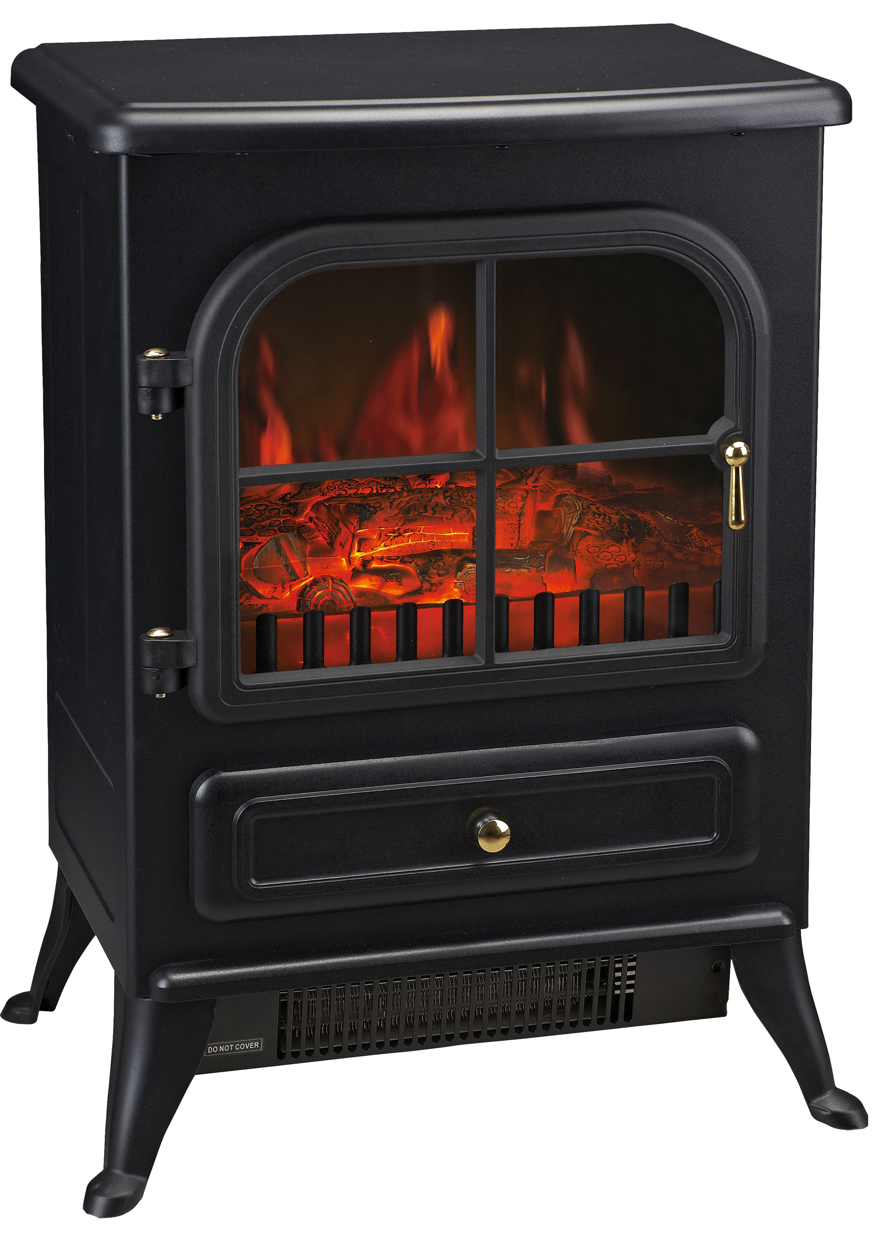 Akershus Black Freestanding Electric Stove, 1850 W