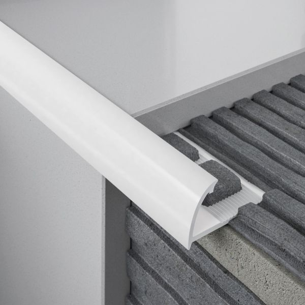 "1/4"" Round External Edge PVC Tile Trims"