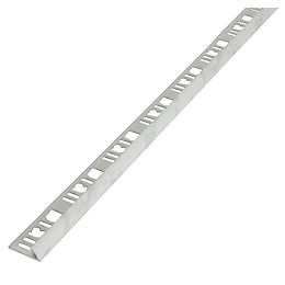 Diall White Marble PVC External Edge Tile Trim