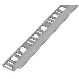 Diall Silver Aluminium Z Stair Nosing Profile Tile