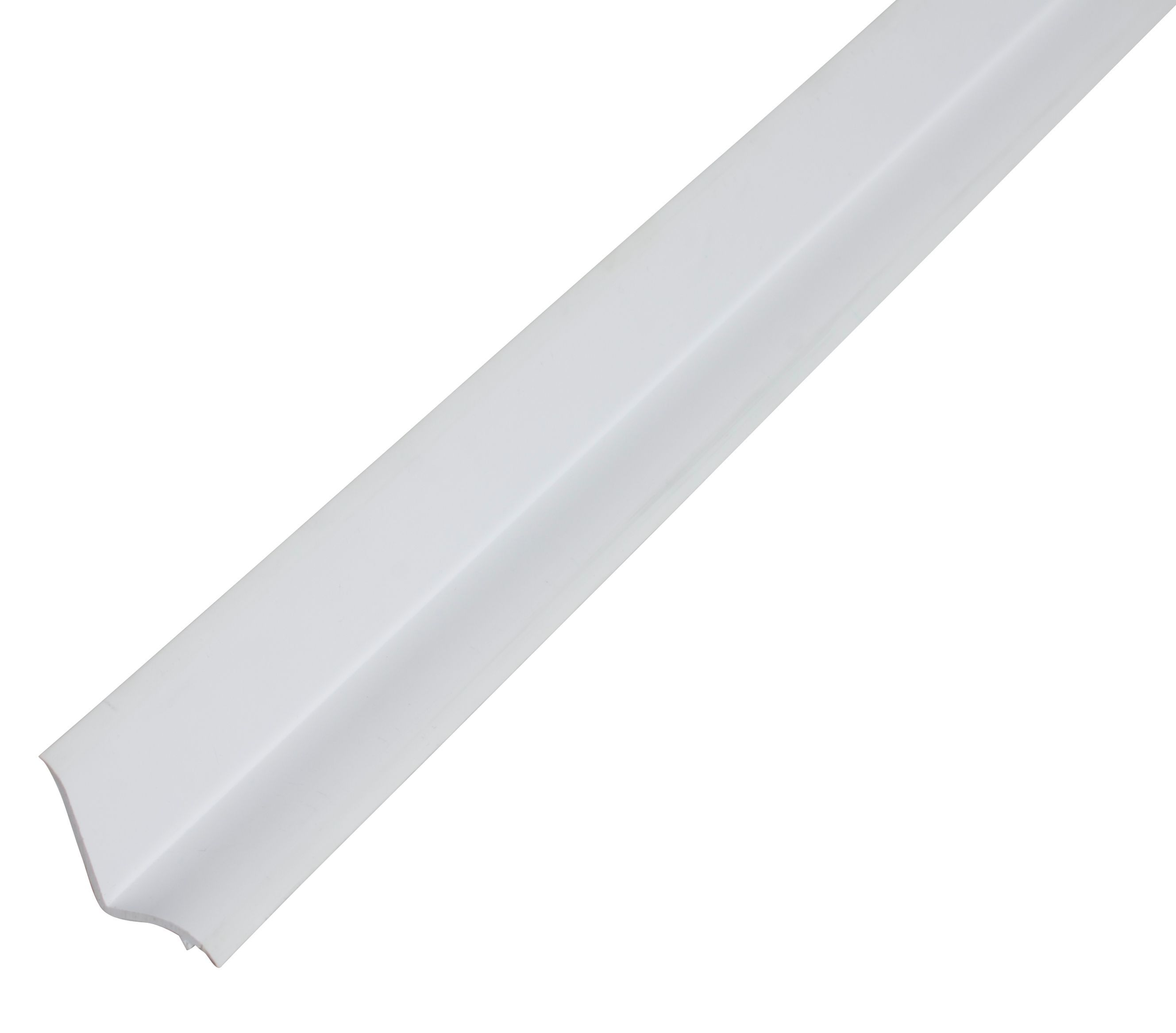 Diall White PVC Bath seal tile trim | Departments | TradePoint