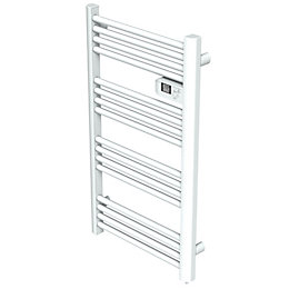 Kandor White Electrical Towel Warmer (H)980mm (W)55mm