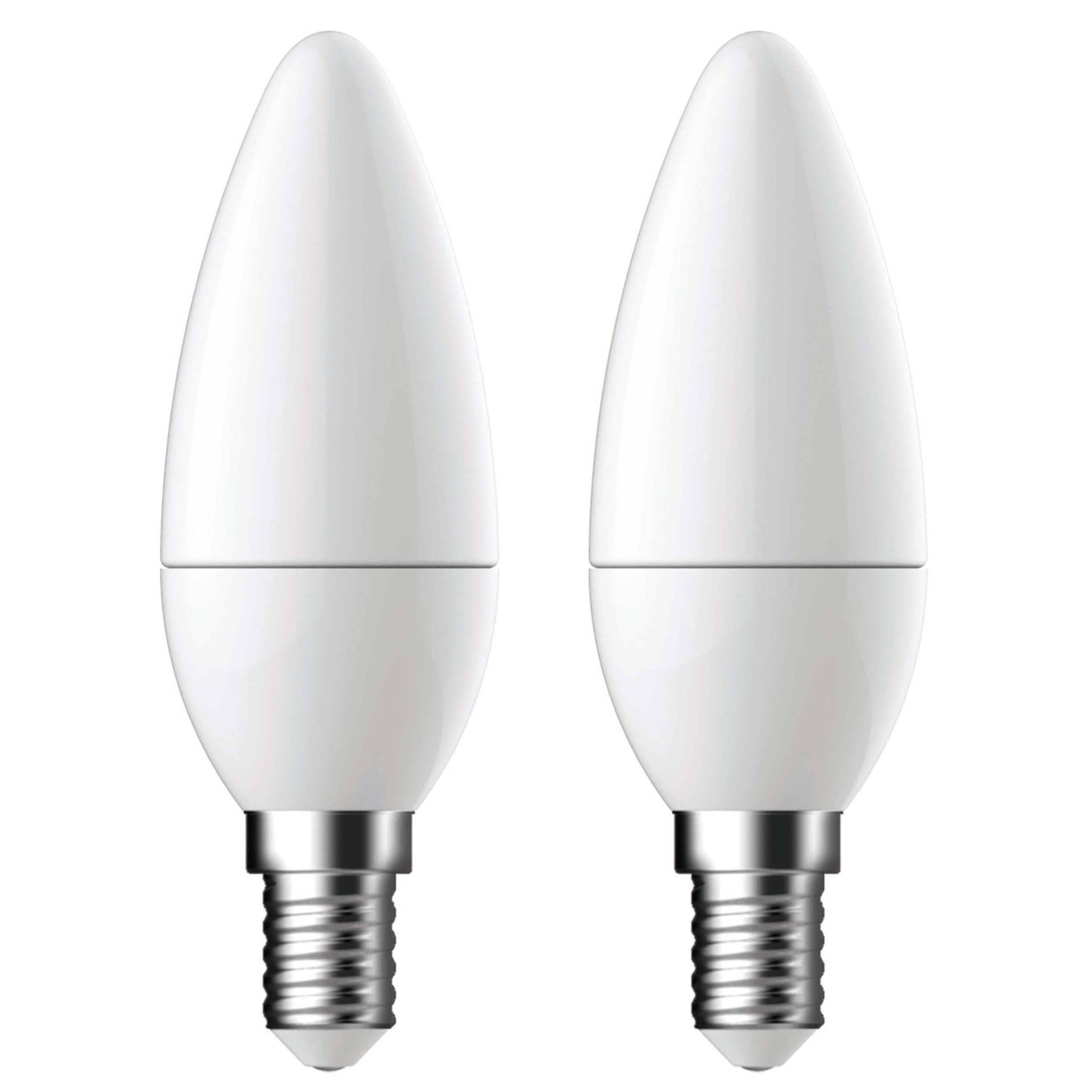 Diall E14 470lm Led Candle Light Bulb, Pack Of 2
