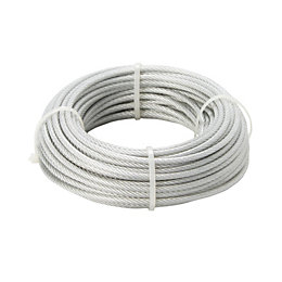 Diall Steel & PVC Cable 4mm x 20m