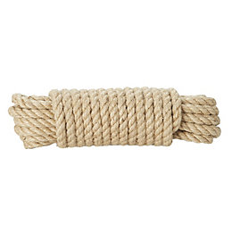 Diall Jute Jute Twisted Rope 12mm x 10M