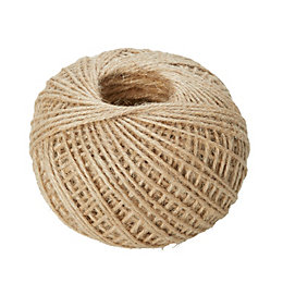 Diall Jute Jute Twisted Rope 1.2mm x 12M