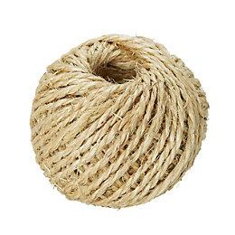 Diall Sisal Sisal Twisted Rope 2mm x 1.8m