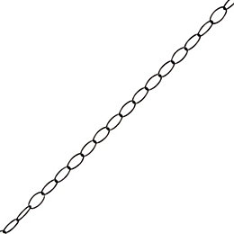 Diall Steel Signalling Chain 2mm x 1.5M