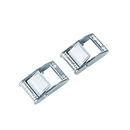 Diall Zinc Alloy Autostop Clip, Pack of 2