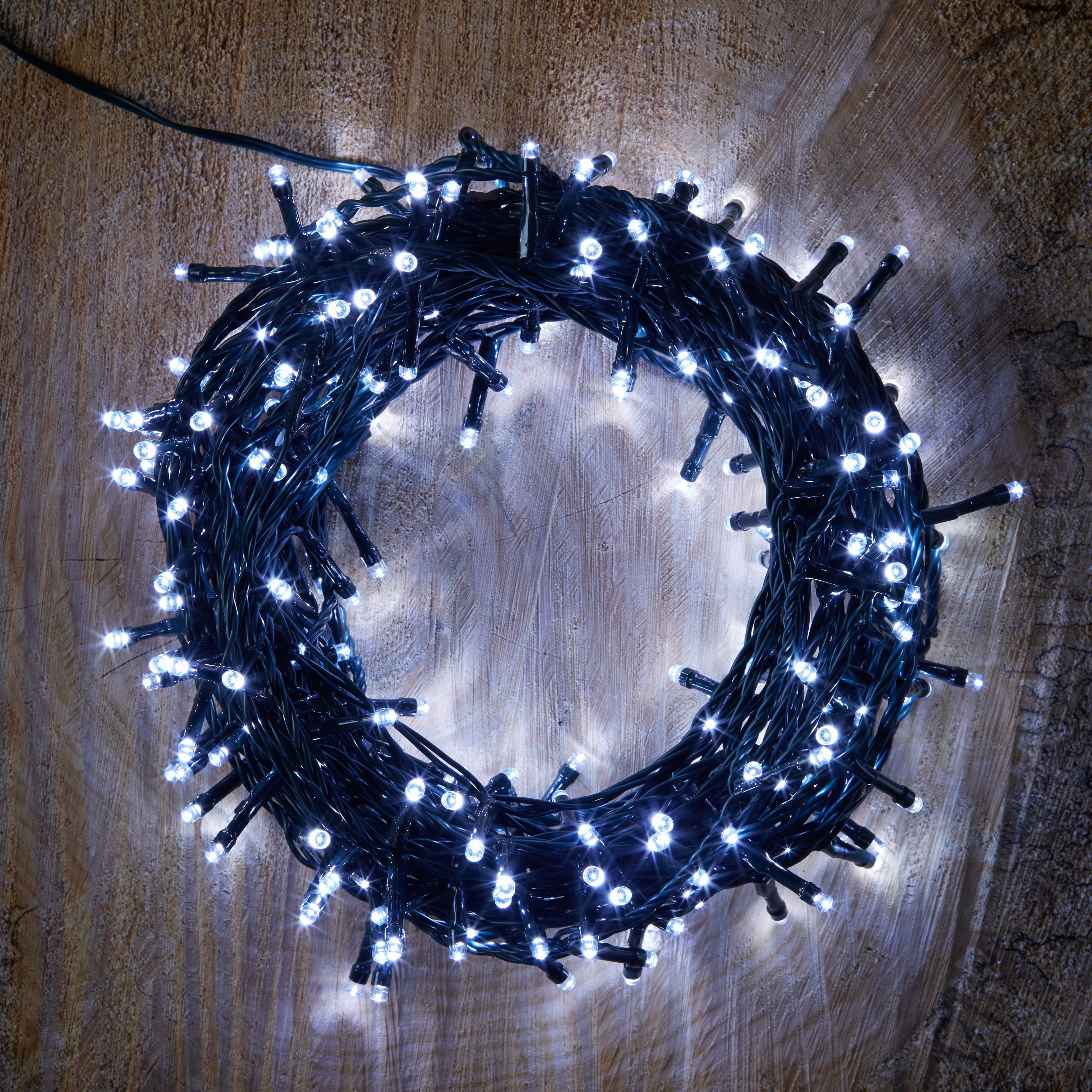 Led String Lights Diy : 240 Ice White LED String Lights Departments DIY at B&Q