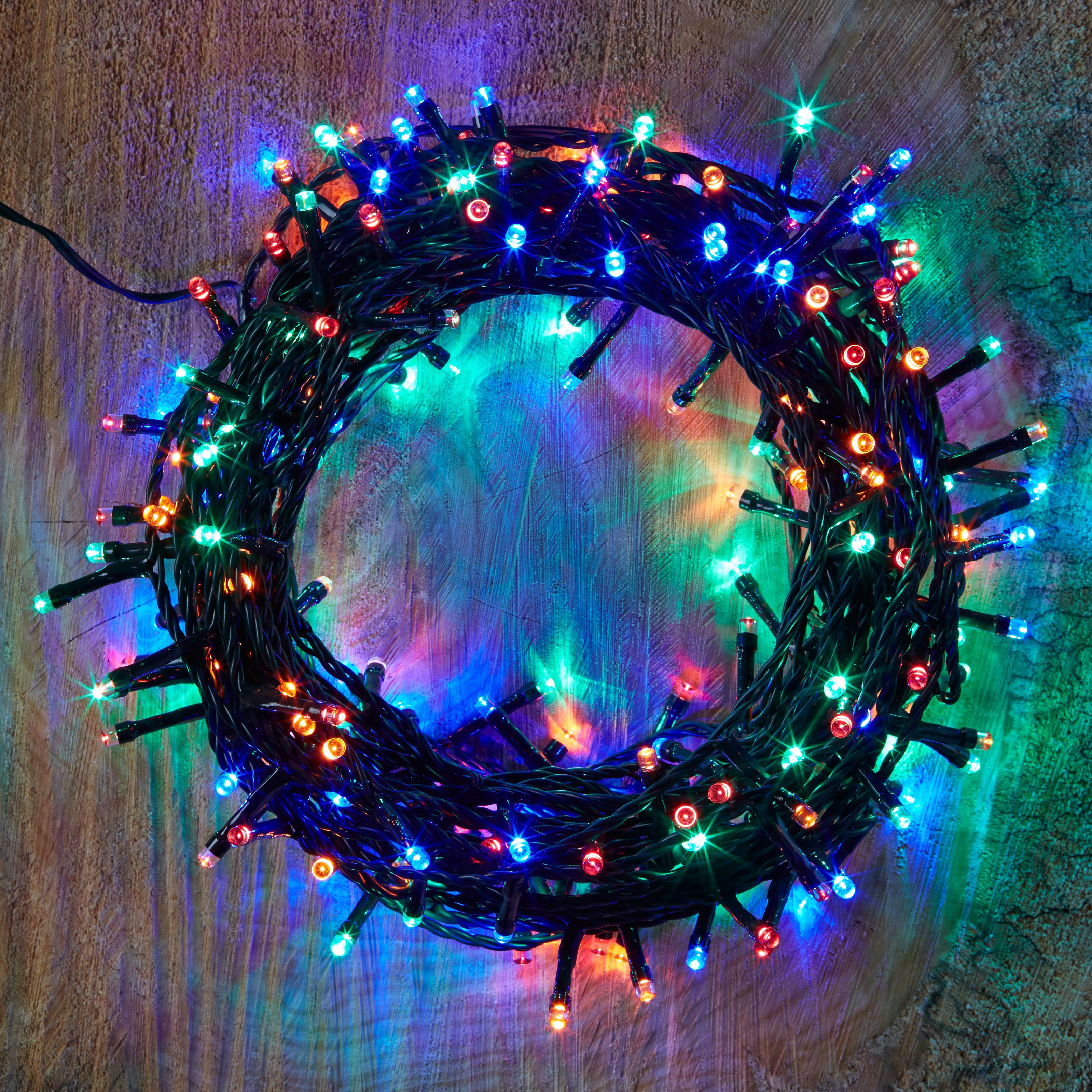240 Multicolour LED String Lights Departments DIY at B&Q