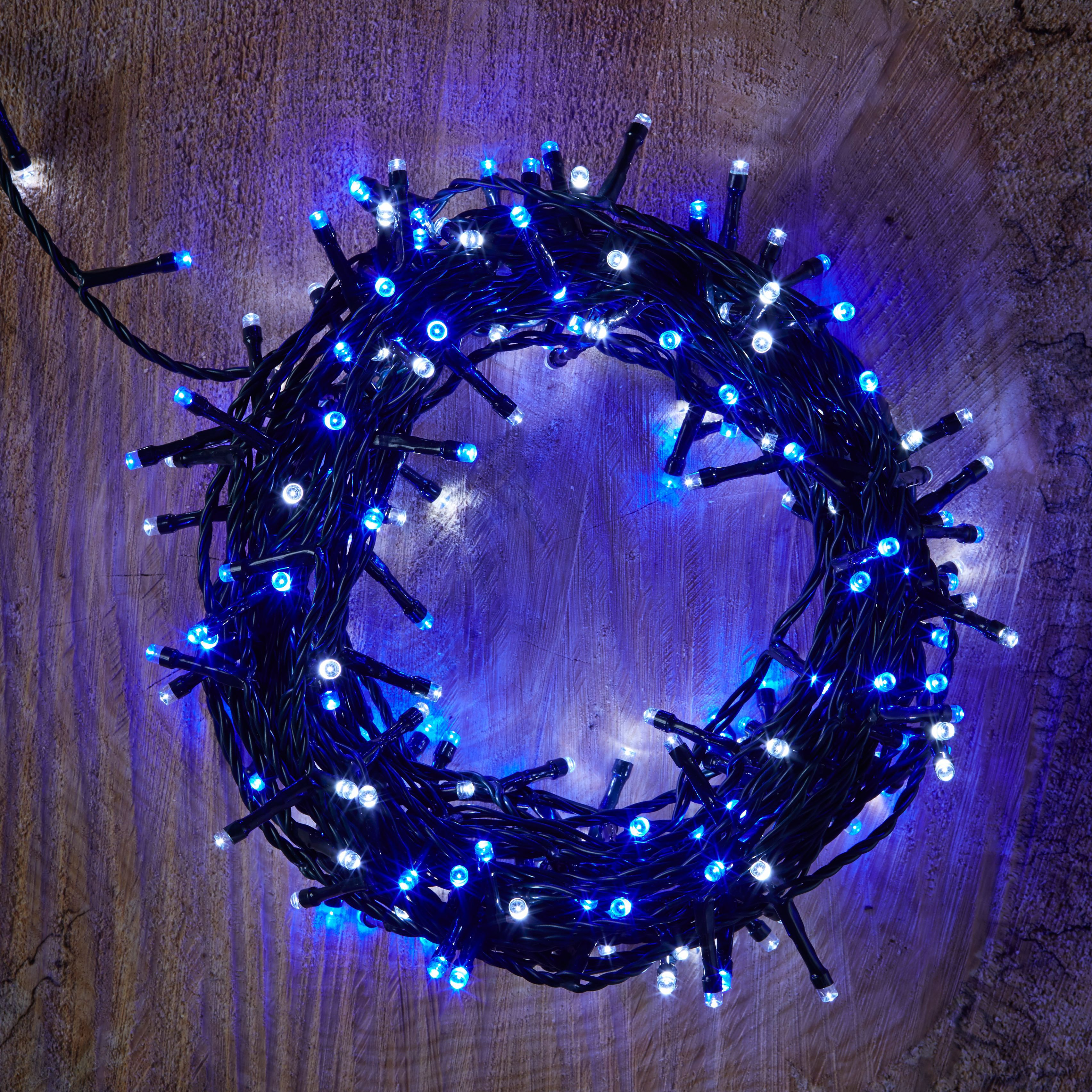 Led String Lights Diy : 240 Blue & White LED String Lights Departments DIY at B&Q