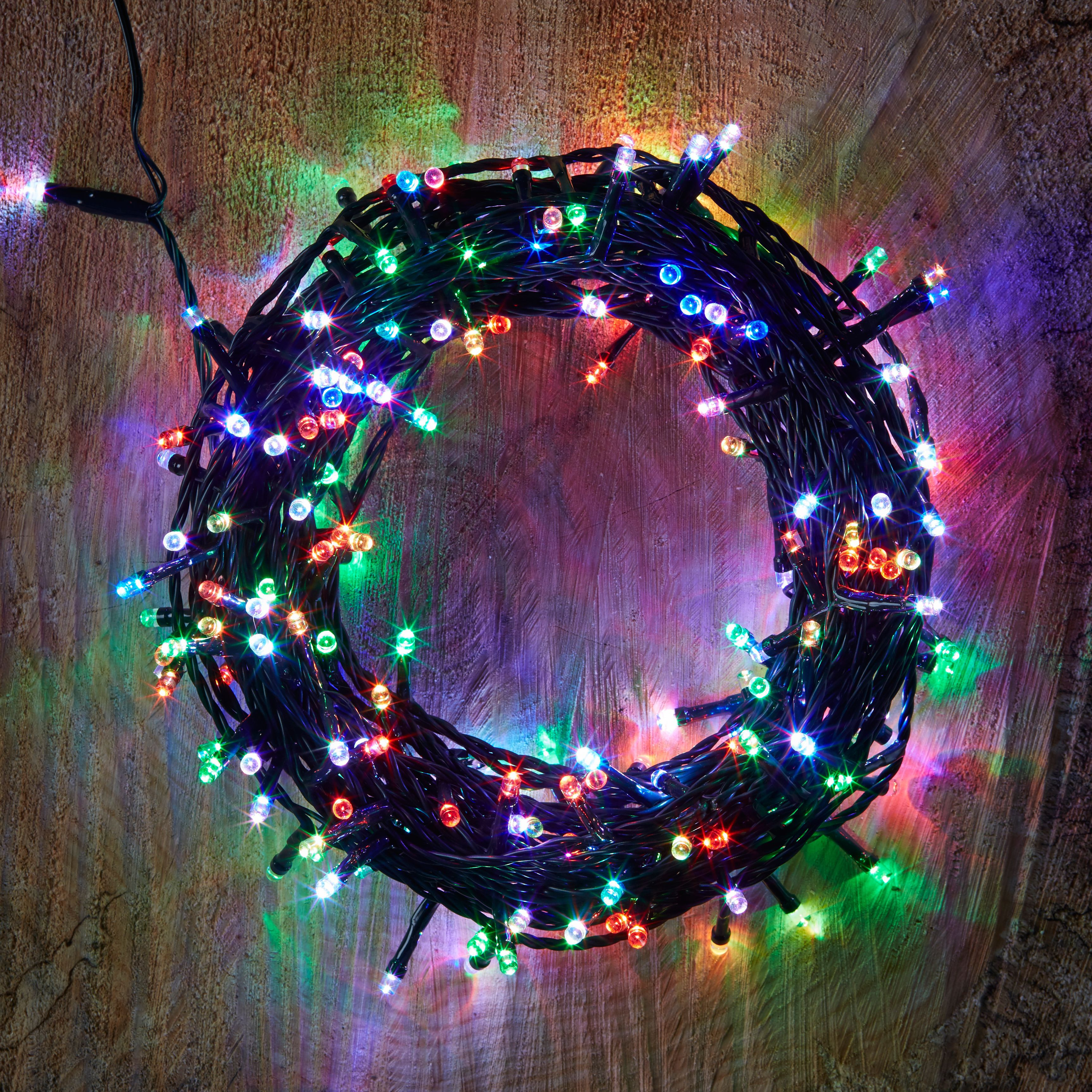 240 Colour Changing LED String Lights Departments DIY at B&Q