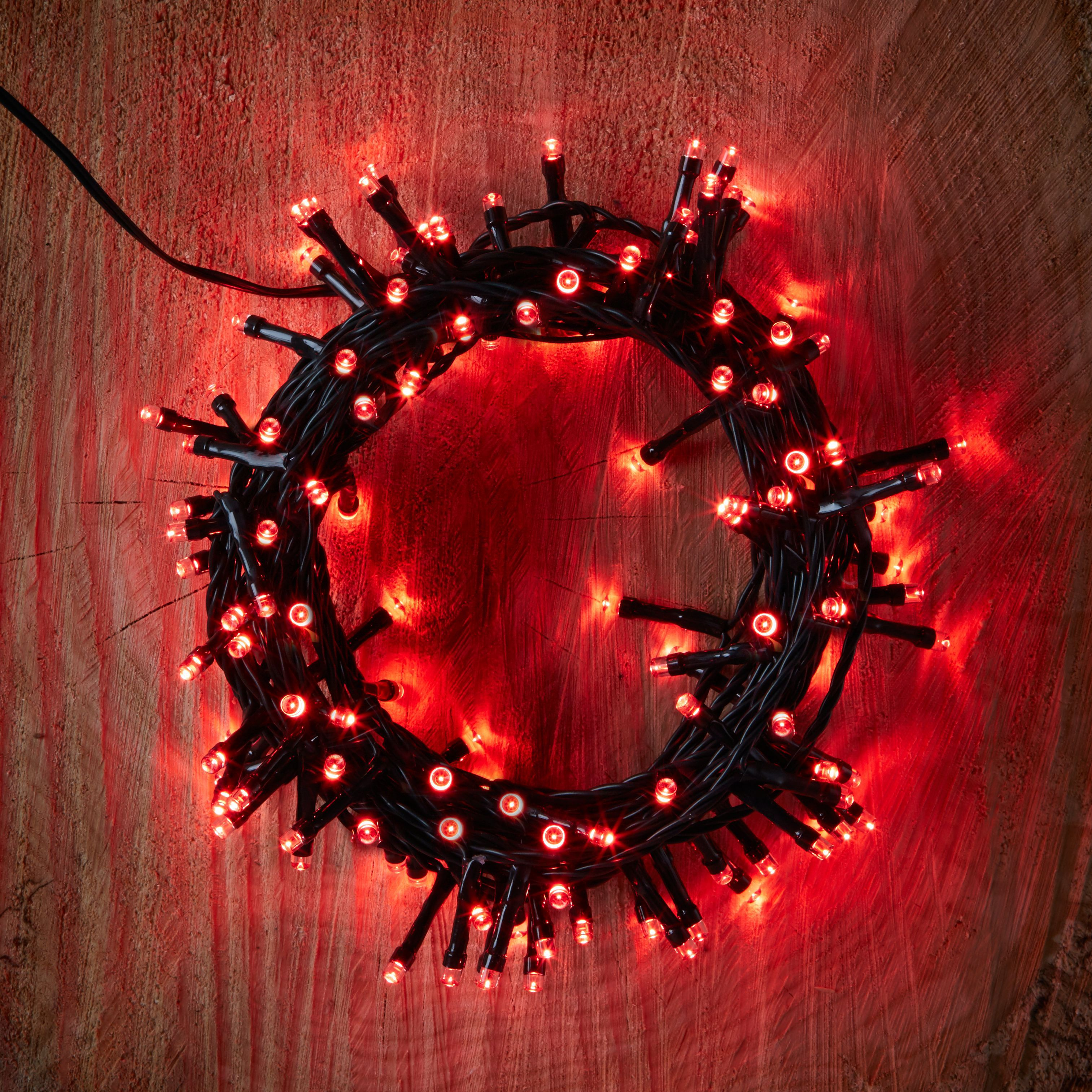 120 Red LED String Lights Departments DIY at B&Q