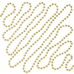 Gold Effect Bead Chain, (L) 5m