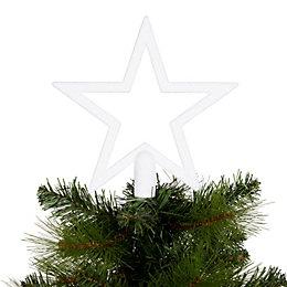 Glitter White Star Tree Topper