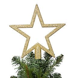 Glitter Gold Star Tree Topper