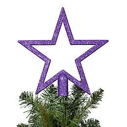 Glitter Purple Star Tree Topper