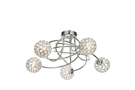Lopez Crystal Ceiling Light