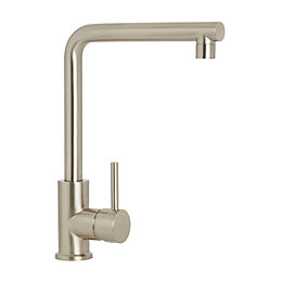 Cooke & Lewis Chutes Brushed Nickel Effect Kitchen