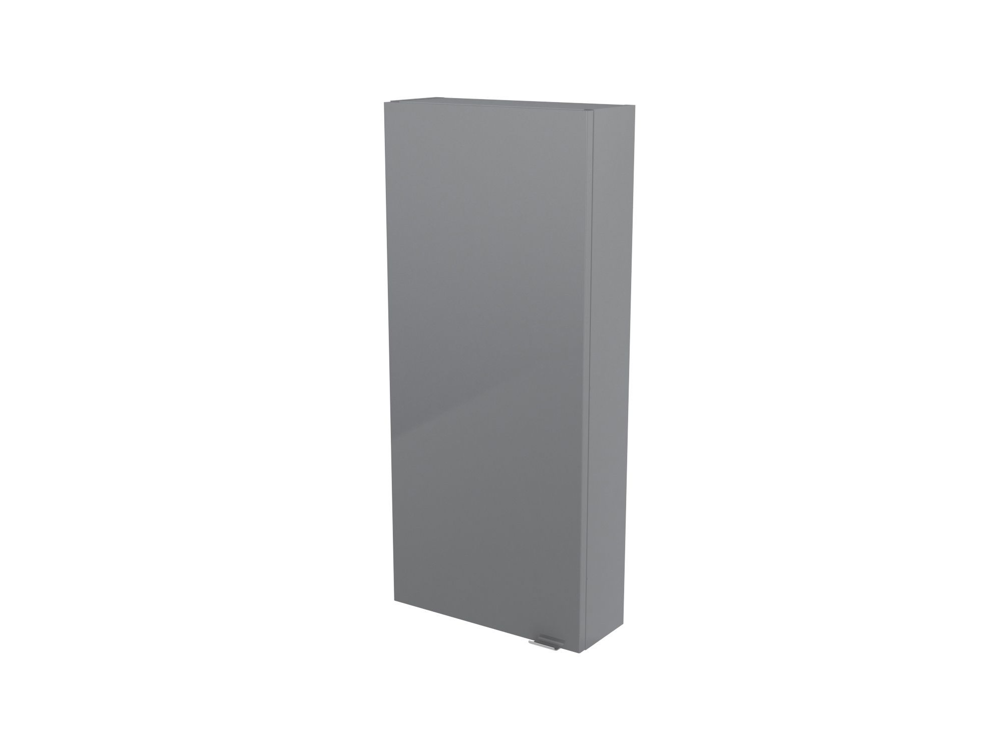 Cooke & Lewis Imandra Gloss Grey Wall Cabinet, (w)400mm
