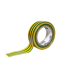 Diall Green & Yellow Electrical Tape (L)10M (W)19mm