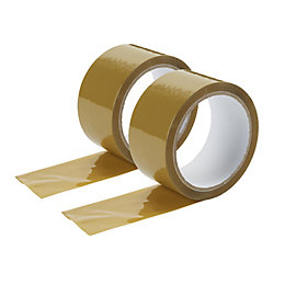 Diall Brown Packaging Tape (L)50M (W)50mm, Pack of
