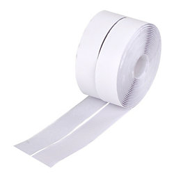 Diall White Hook & Loop Tape (L)5M (W)30mm