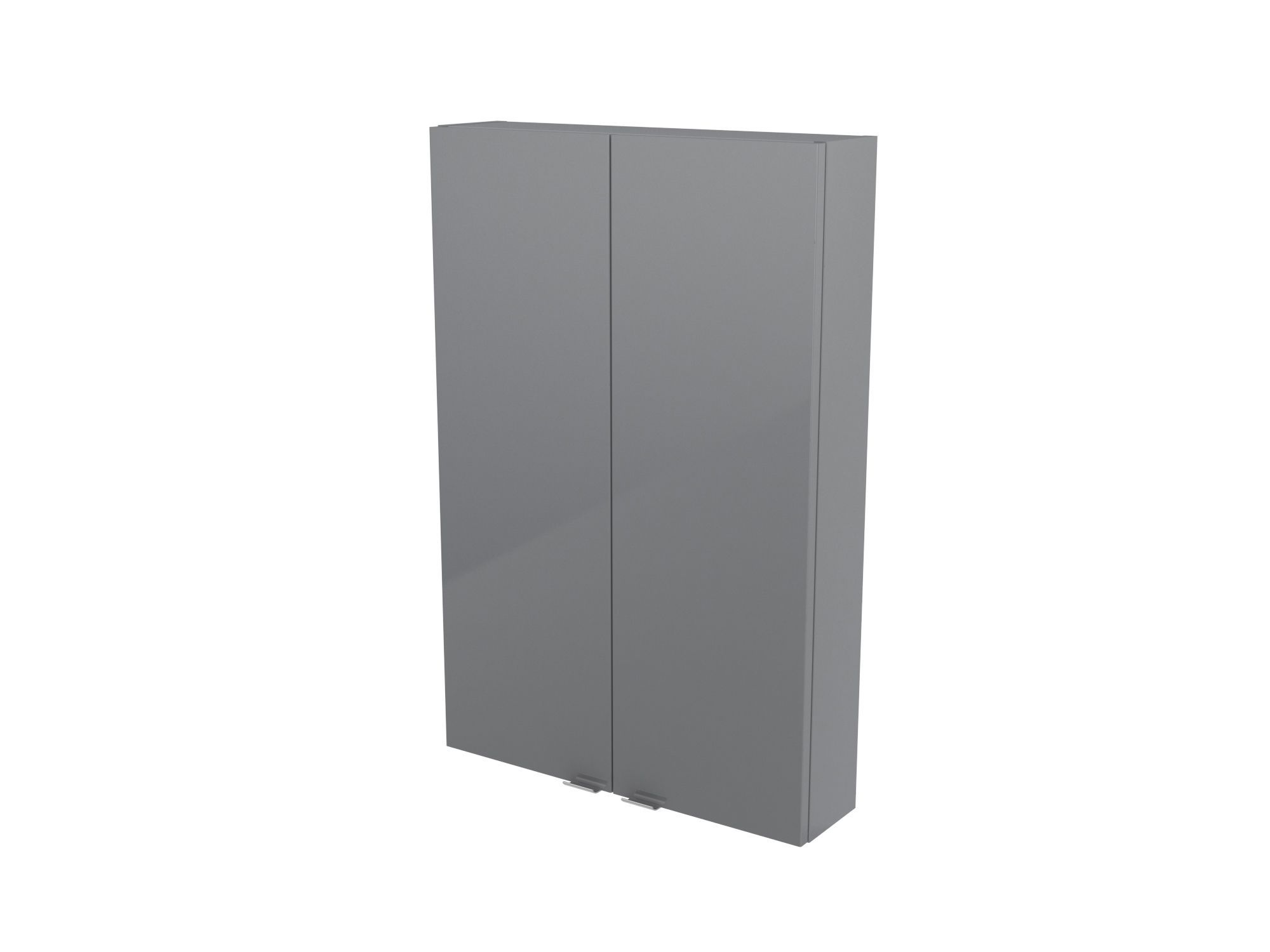 Cooke & Lewis Imandra Gloss Grey Wall Cabinet, (w)600mm