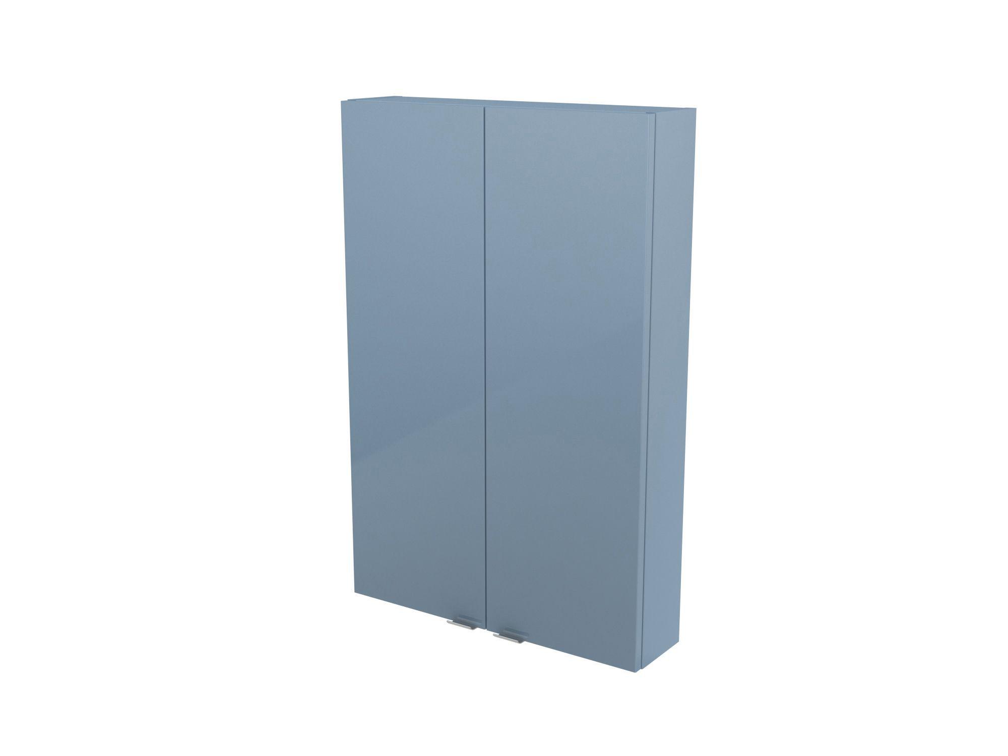 Cooke & Lewis Imandra Gloss Blue Wall Cabinet, (w)600mm