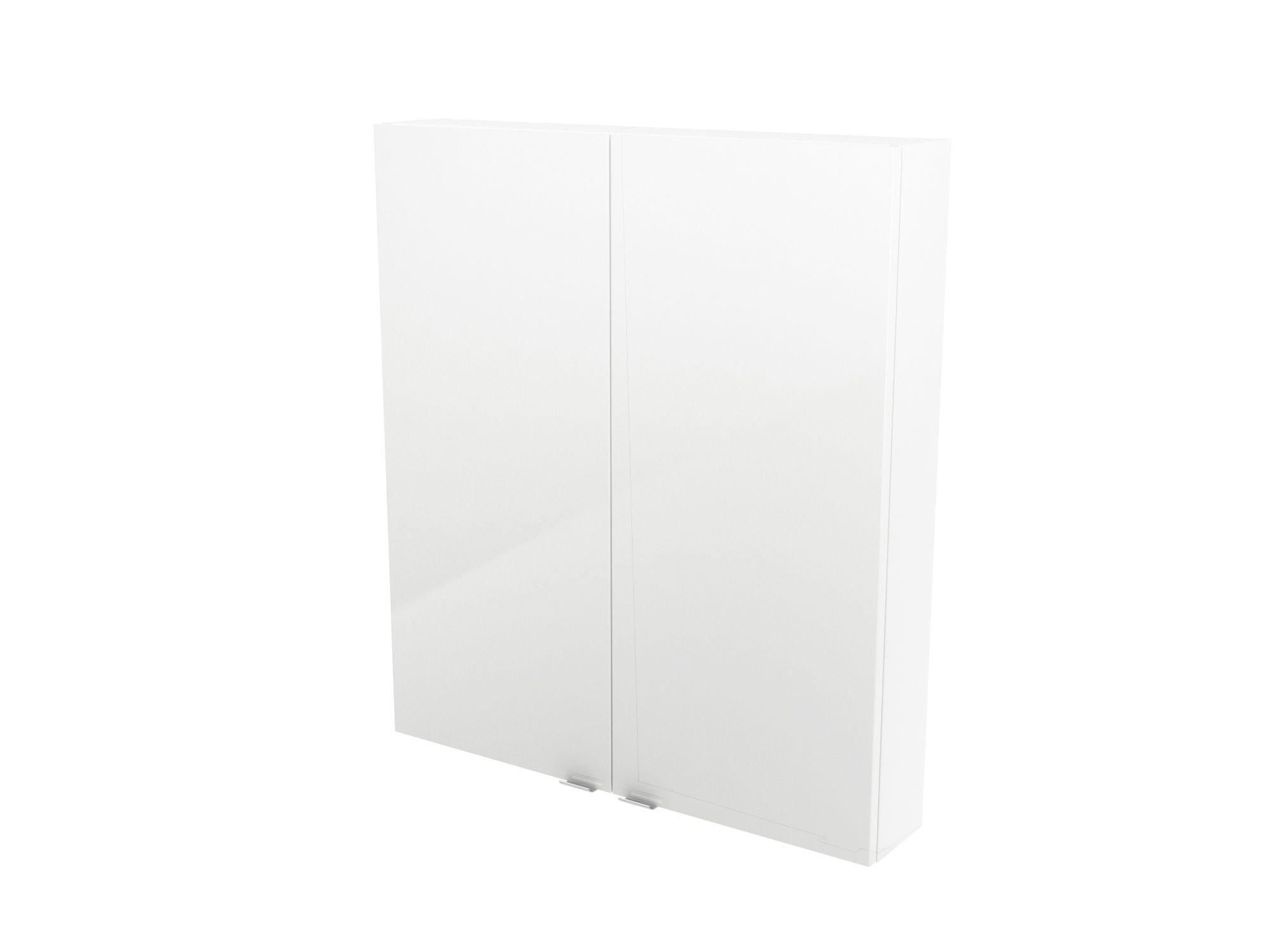 Cooke & Lewis Imandra Gloss White Wall Cabinet, (w)800mm