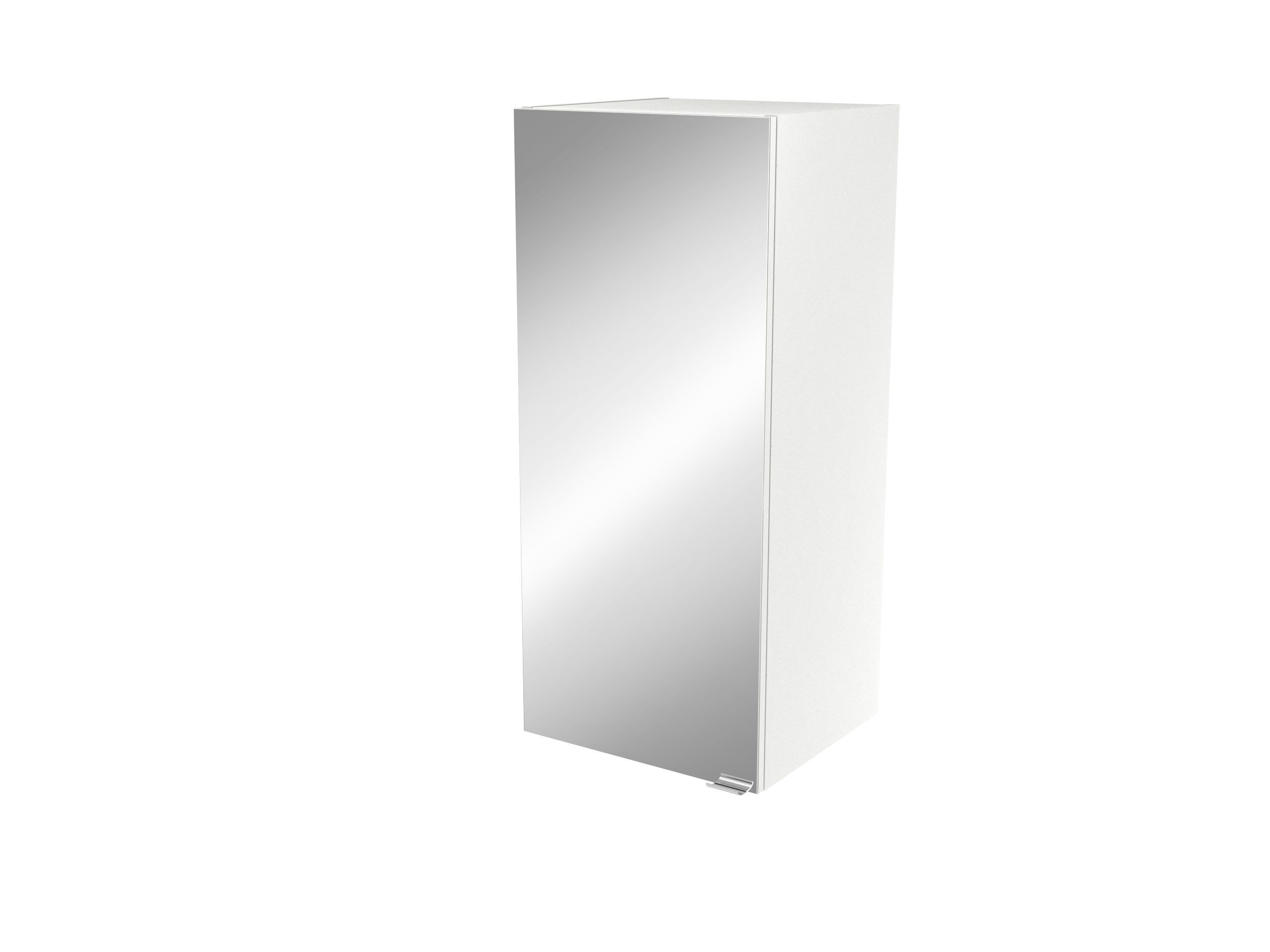 Cooke & Lewis Imandra Gloss White Deep Mirrored Wall Cabinet, (w)400mm