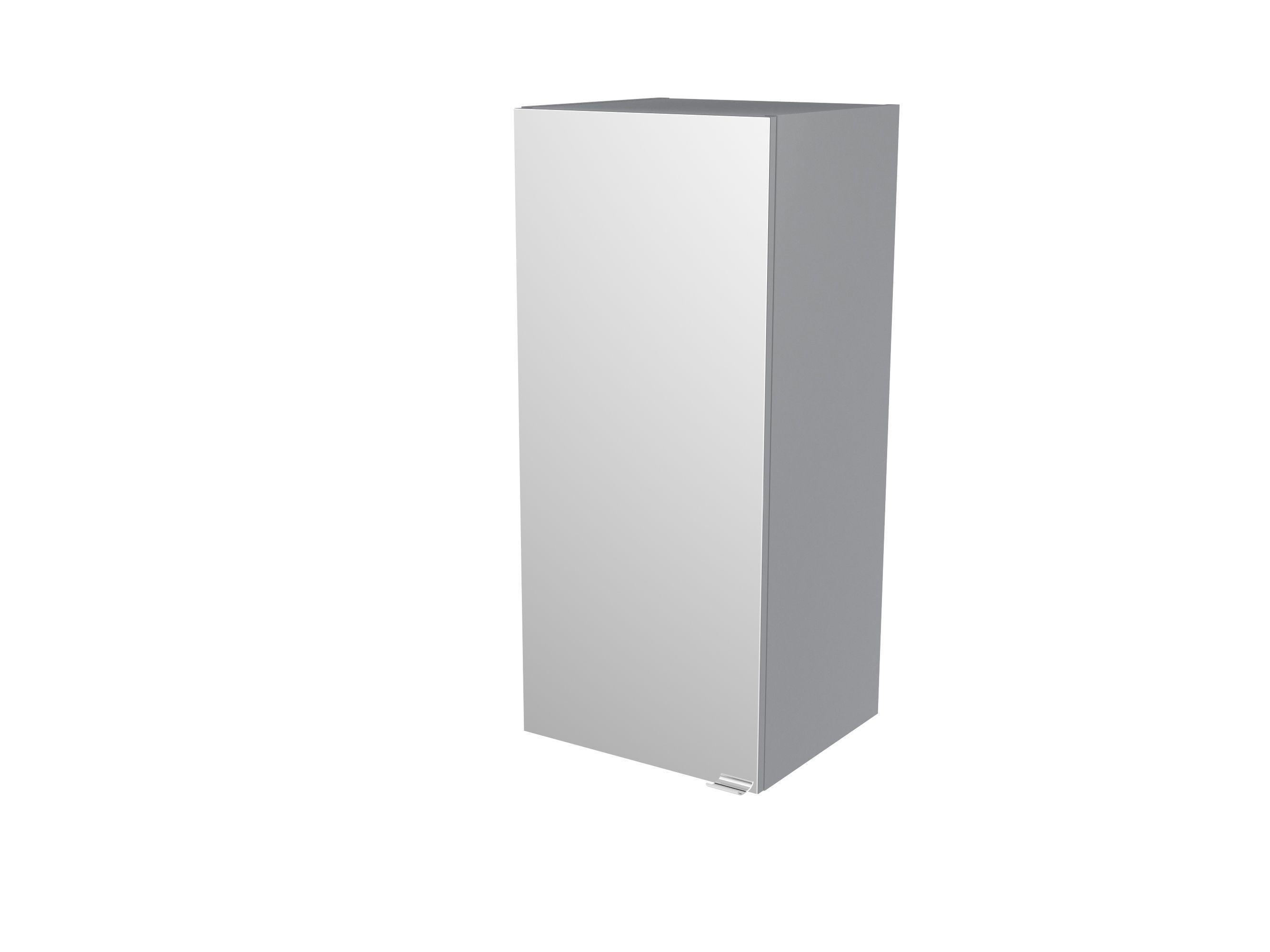 Cooke & Lewis Imandra Gloss Grey Deep Mirrored Wall Cabinet, (w)400mm