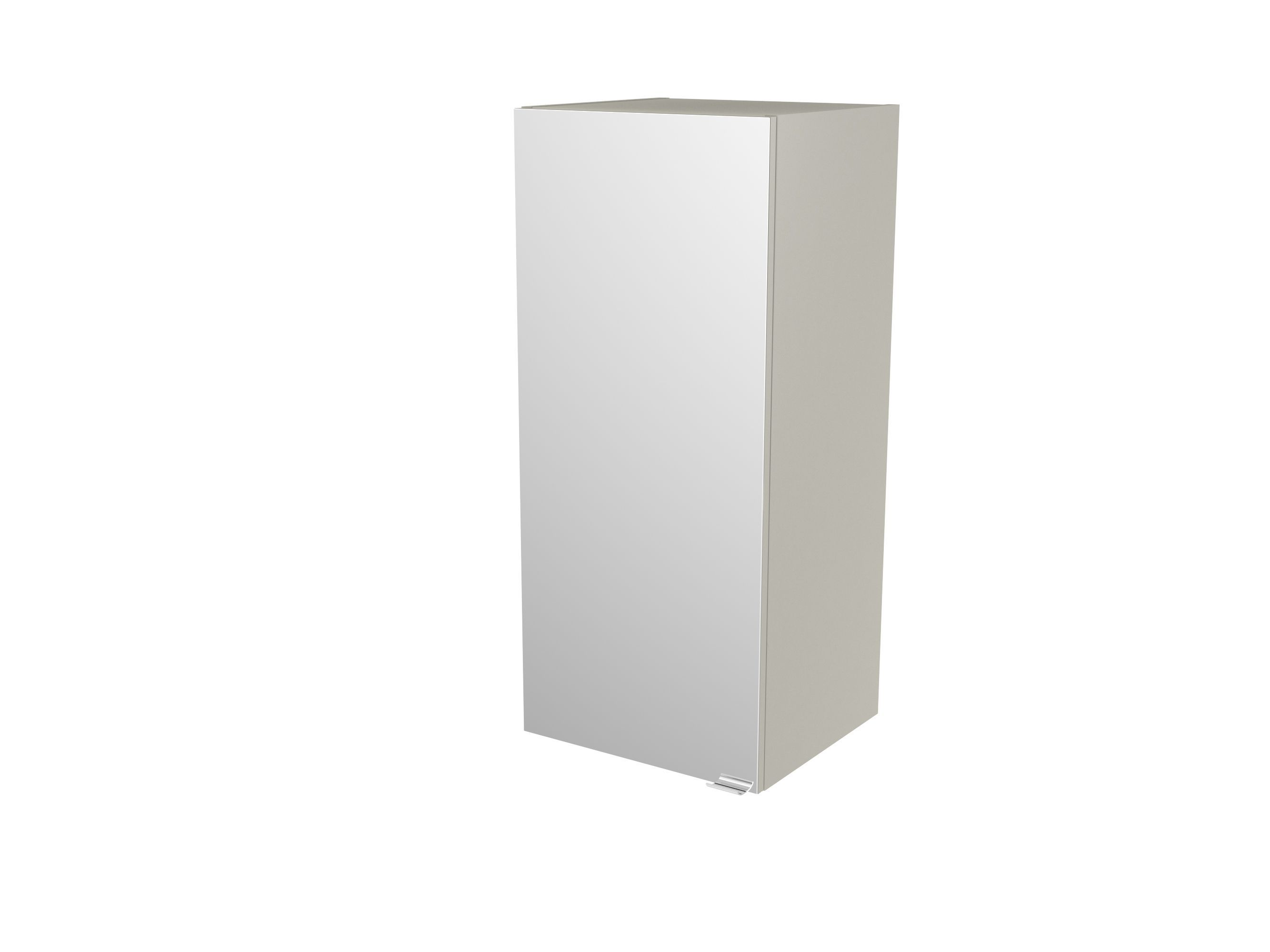 Cooke & Lewis Imandra Gloss Taupe Deep Mirrored Wall Cabinet, (w)400mm