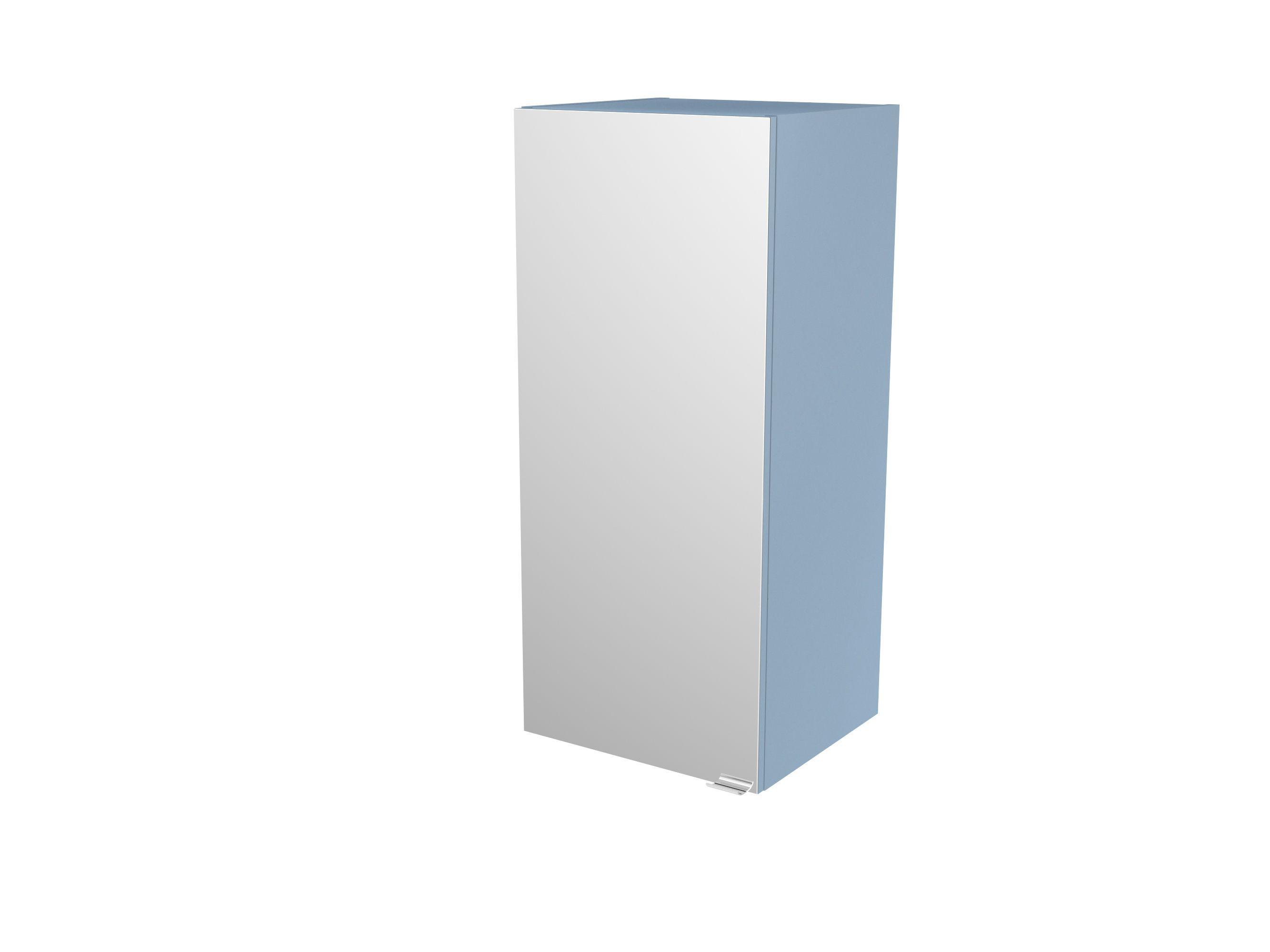 Cooke & Lewis Imandra Gloss Blue Deep Mirrored Wall Cabinet, (w)400mm