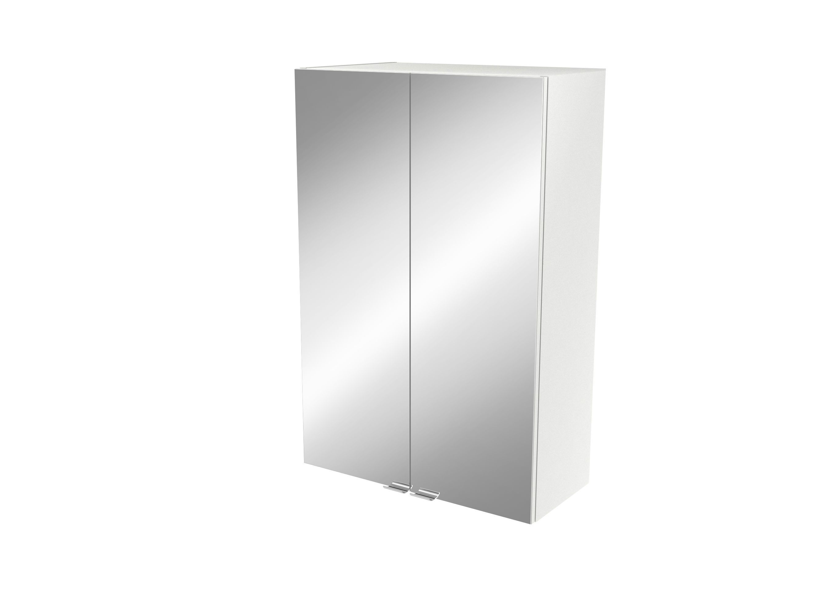 Cooke & Lewis Imandra Gloss White Deep Mirrored Wall Cabinet, (w)600mm
