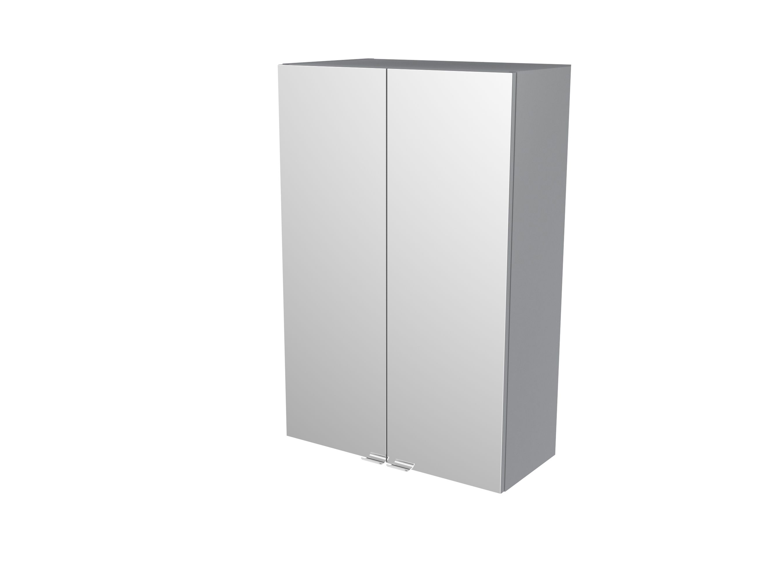 Cooke & Lewis Imandra Gloss Grey Deep Mirrored Wall Cabinet, (w)600mm