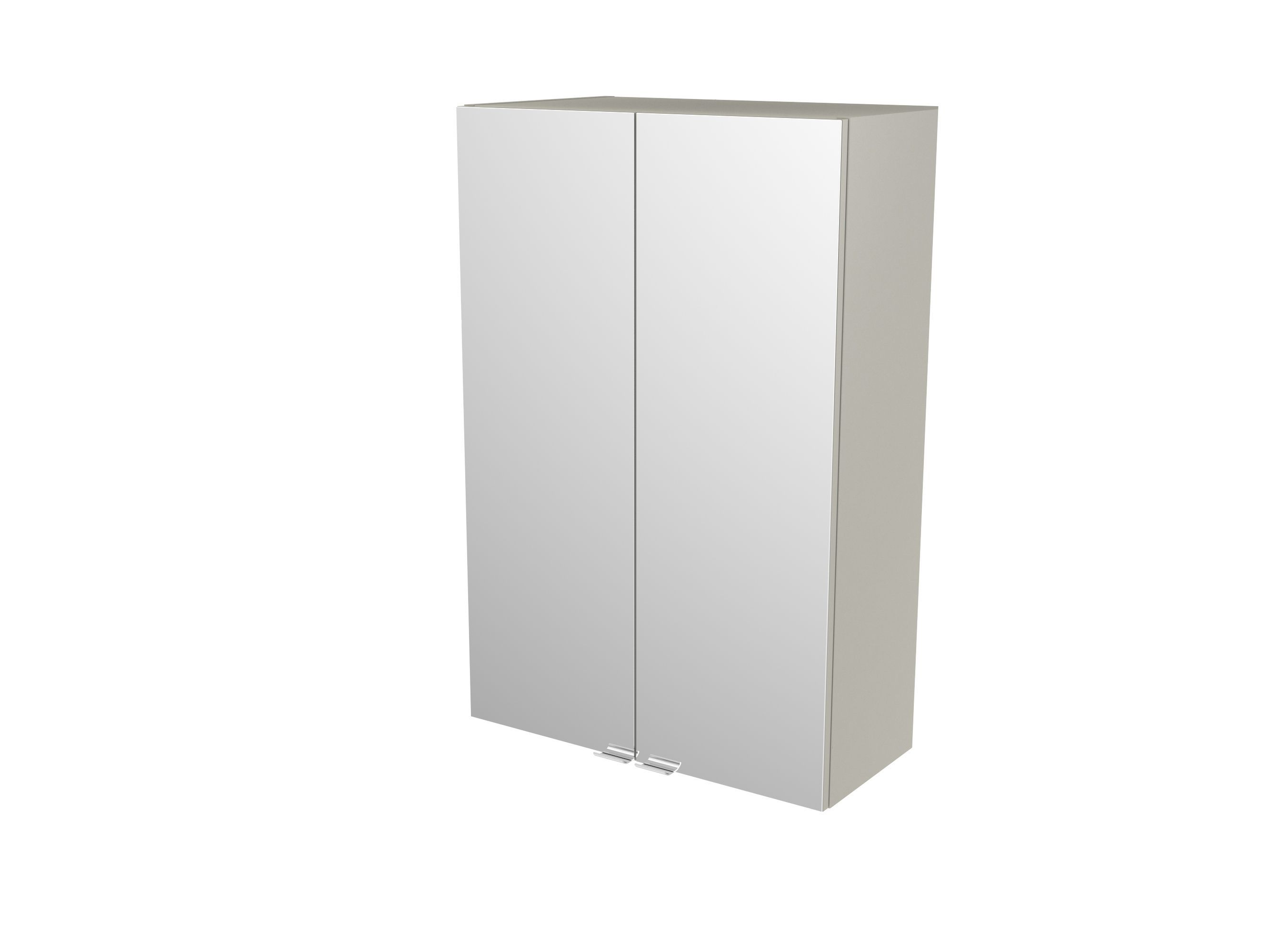 Cooke & Lewis Imandra Gloss Taupe Deep Mirrored Wall Cabinet, (w)600mm
