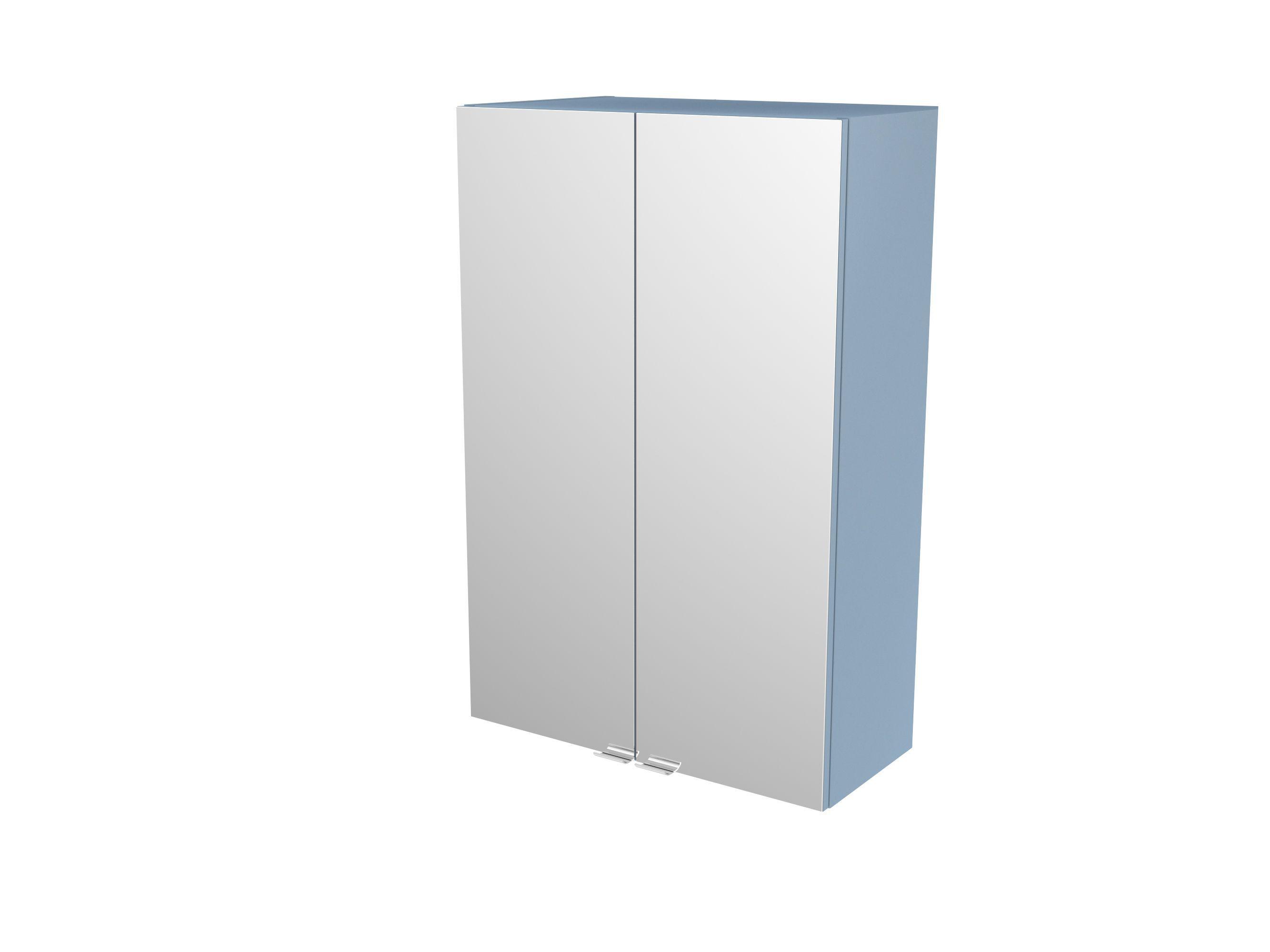 Cooke & Lewis Imandra Gloss Blue Deep Mirrored Wall Cabinet, (w)600mm