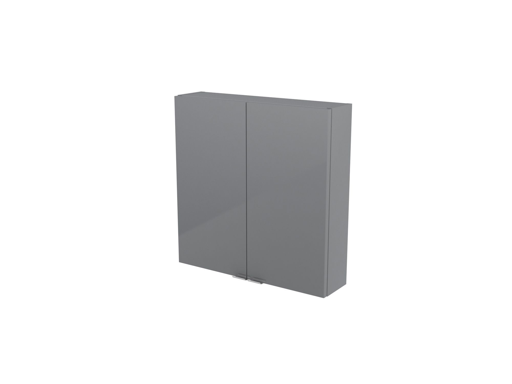 Cooke & Lewis Imandra Gloss Grey Short Wall Cabinet, (w)600mm